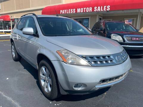 2007 Nissan Murano for sale at Payless Motor Sales LLC in Burlington NC