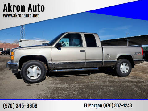 1998 GMC Sierra 1500 for sale at Akron Auto - Fort Morgan in Fort Morgan CO