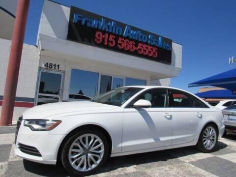 2014 Audi A6 for sale at Franklin Auto Sales in El Paso TX