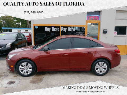 2012 Chevrolet Cruze for sale at QUALITY AUTO SALES OF FLORIDA in New Port Richey FL