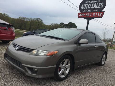 2008 Honda Civic for sale at McAllister's Auto Sales LLC in Van Buren AR
