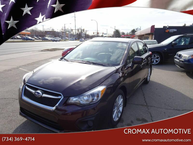 2013 Subaru Impreza for sale at Cromax Automotive in Ann Arbor MI
