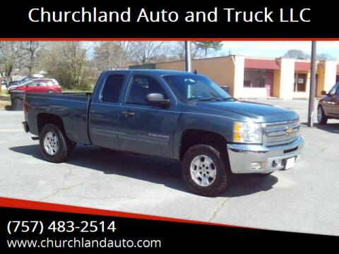 2012 Chevrolet Silverado 1500 for sale at Churchland Auto and Truck LLC in Portsmouth VA
