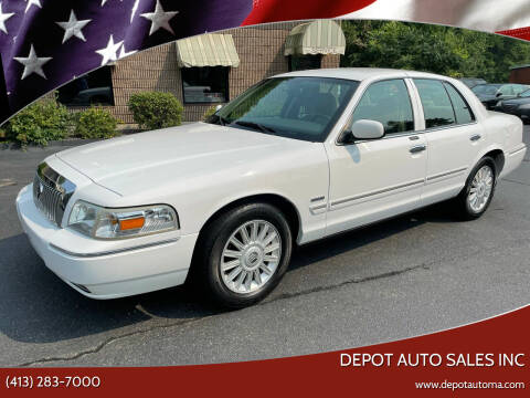 2010 Mercury Grand Marquis for sale at Depot Auto Sales Inc in Palmer MA