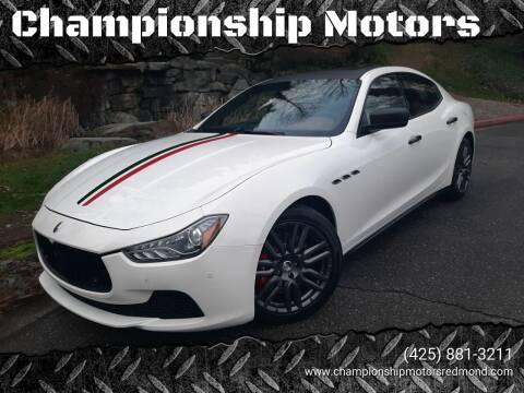 2015 Maserati Ghibli for sale at Mudarri Motorsports - Championship Motors in Redmond WA