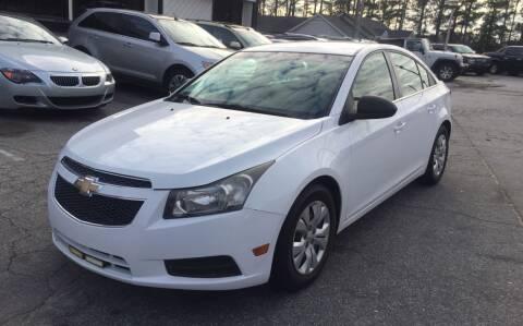 2012 Chevrolet Cruze for sale at Alpha Car Land LLC in Snellville GA