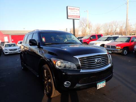 2011 Infiniti QX56 for sale at Marty's Auto Sales in Savage MN