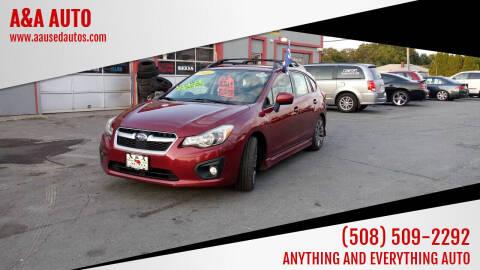 2014 Subaru Impreza for sale at A&A AUTO in Fairhaven MA
