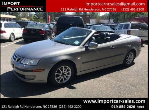 2004 Saab 9-3 for sale at Import Performance Sales - Henderson in Henderson NC