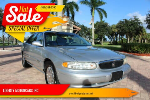 2002 Buick Century for sale at LIBERTY MOTORCARS INC in Royal Palm Beach FL