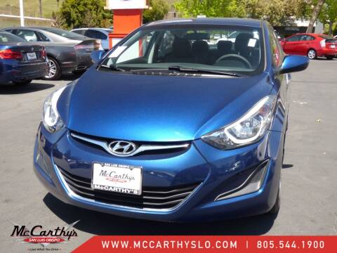 2016 Hyundai Elantra for sale at McCarthy Wholesale in San Luis Obispo CA