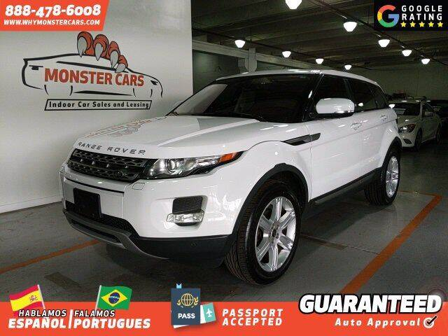 2013 Land Rover Range Rover Evoque for sale at Monster Cars in Pompano Beach FL