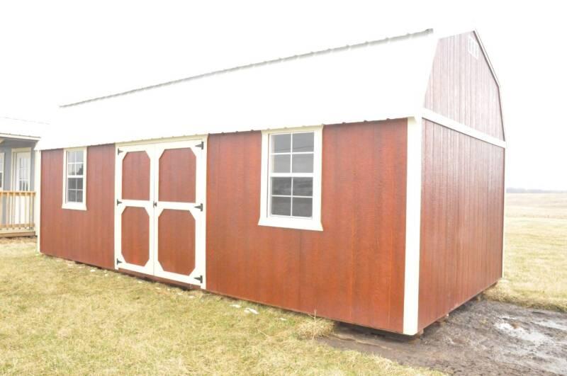 Side Lofted Barn 12x24 for sale at Brett's Automotive in Kahoka MO