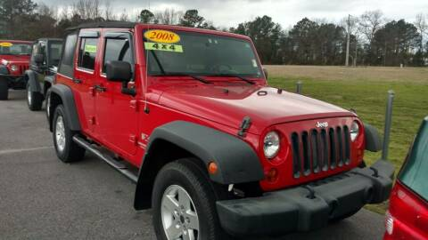 2008 Jeep Wrangler Unlimited for sale at Kelly & Kelly Supermarket of Cars in Fayetteville NC