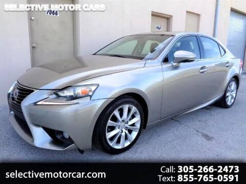 2014 Lexus IS 250 for sale at Selective Motor Cars in Miami FL