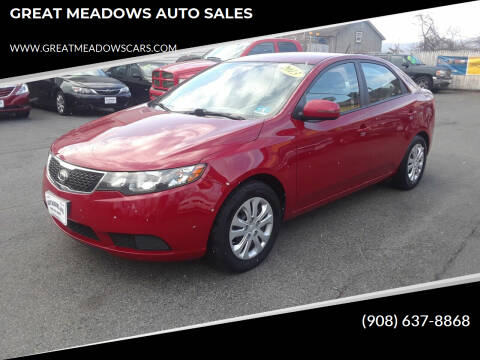 2013 Kia Forte for sale at GREAT MEADOWS AUTO SALES in Great Meadows NJ