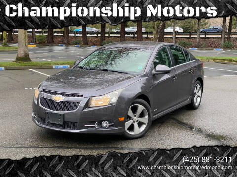2011 Chevrolet Cruze for sale at Championship Motors in Redmond WA