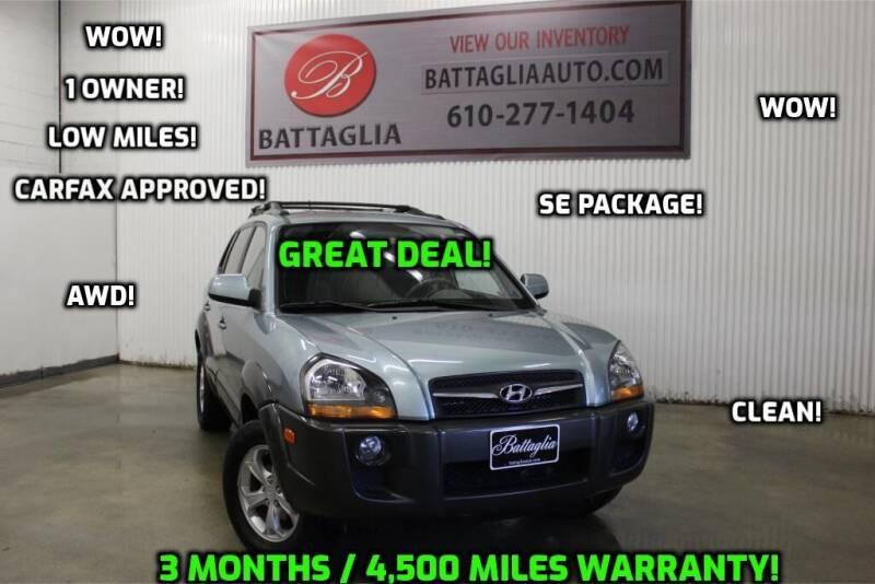 2009 Hyundai Tucson for sale at Battaglia Auto Sales in Plymouth Meeting PA