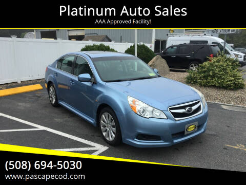 2010 Subaru Legacy for sale at Platinum Auto Sales in South Yarmouth MA