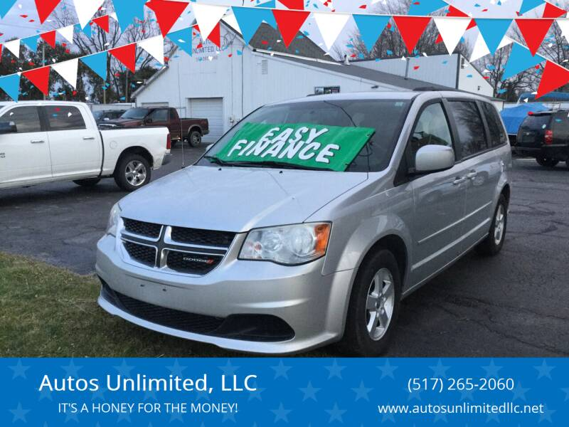 2012 Dodge Grand Caravan for sale at Autos Unlimited, LLC in Adrian MI