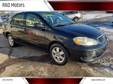 2005 Toyota Corolla for sale at R&D Motors LLC in Cleveland OH