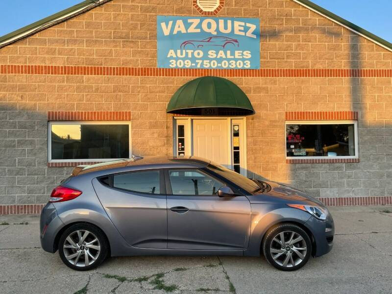 2016 Hyundai Veloster for sale at VAZQUEZ AUTO SALES in Bloomington IL