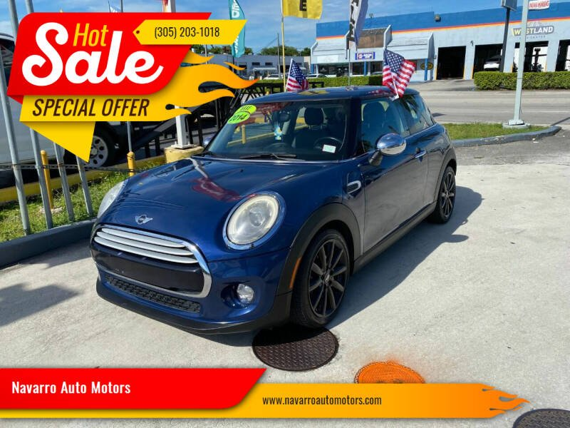 2014 MINI Hardtop for sale at Navarro Auto Motors in Hialeah FL
