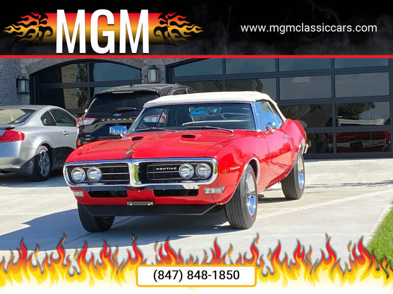 1968 Pontiac Firebird for sale at MGM CLASSIC CARS in Addison IL