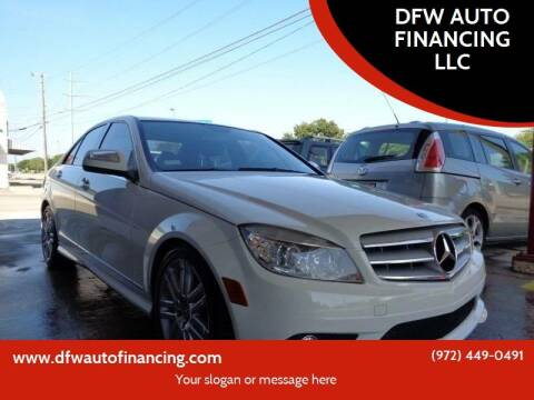 2009 Mercedes-Benz C-Class for sale at Bad Credit Call Fadi in Dallas TX