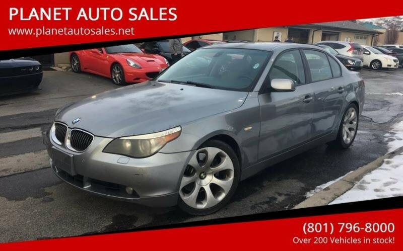 2007 BMW 5 Series for sale at PLANET AUTO SALES in Lindon UT