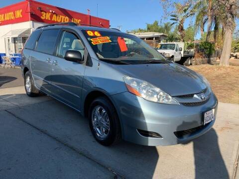 2006 Toyota Sienna for sale at 3K Auto in Escondido CA