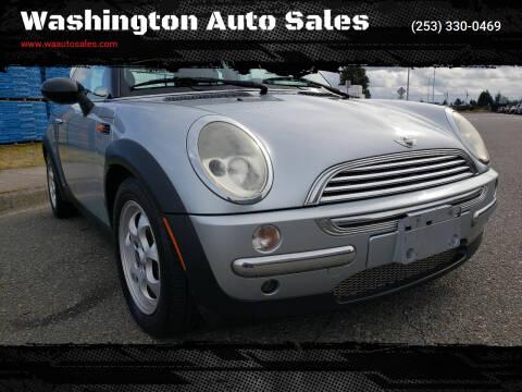 2002 MINI Cooper for sale at Washington Auto Sales in Tacoma WA