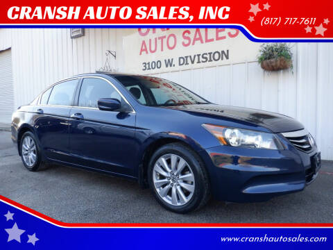 2011 Honda Accord for sale at CRANSH AUTO SALES, INC in Arlington TX