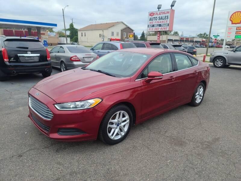 2013 Ford Fusion for sale at PLATINUM AUTO SALES in Dearborn MI