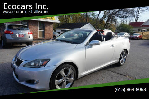 2011 Lexus IS 250C for sale at Ecocars Inc. in Nashville TN
