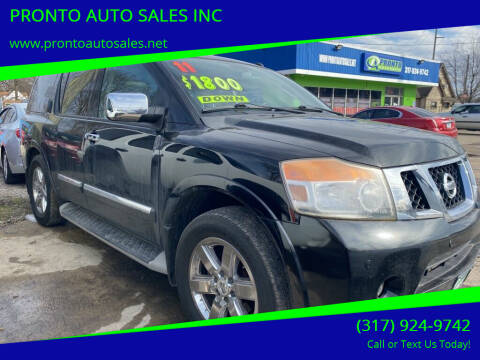 2011 Nissan Armada for sale at PRONTO AUTO SALES INC in Indianapolis IN
