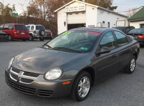 2003 Dodge Neon for sale at Bik's Auto Sales in Camp Hill PA