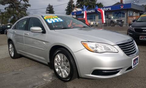 2012 Chrysler 200 for sale at All American Motors in Tacoma WA