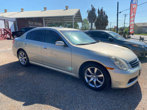2005 Infiniti G35 for sale at M & M Motors in Angleton TX