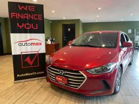 2017 Hyundai Elantra for sale at AutoMax in West Hartford CT
