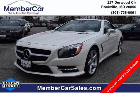 2013 Mercedes-Benz SL-Class for sale at MemberCar in Rockville MD