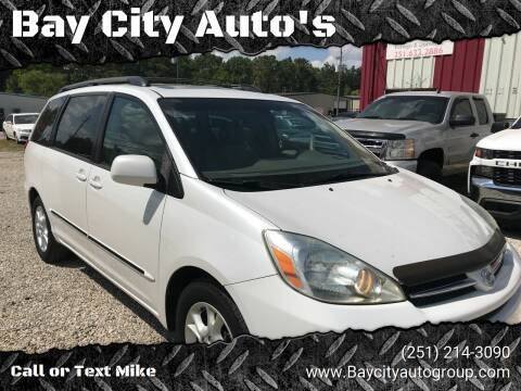 2005 Toyota Sienna for sale at Bay City Auto's in Mobile AL
