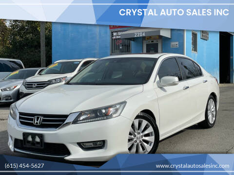2013 Honda Accord for sale at Crystal Auto Sales Inc in Nashville TN
