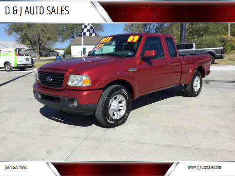 2009 Ford Ranger for sale at D & J AUTO SALES in Joplin MO
