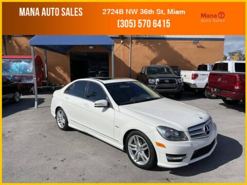 2012 Mercedes-Benz C-Class for sale at MANA AUTO SALES in Miami FL