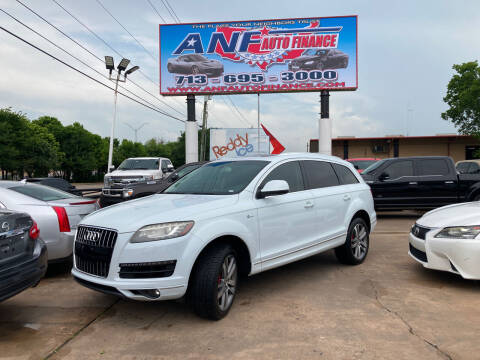 2014 Audi Q7 for sale at ANF AUTO FINANCE in Houston TX