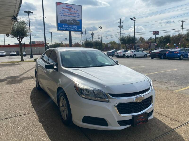 2015 Chevrolet Malibu for sale at Magic Auto Sales in Dallas TX