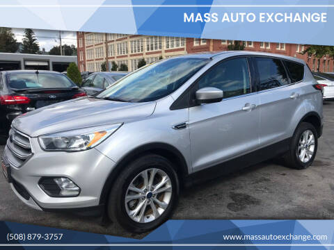 2017 Ford Escape for sale at Mass Auto Exchange in Framingham MA