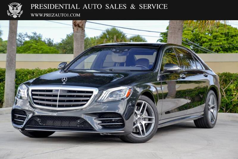 2018 Mercedes-Benz S-Class for sale at Presidential Auto  Sales & Service in Delray Beach FL