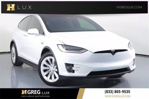 2021 Tesla Model X for sale at HGREG LUX EXCLUSIVE MOTORCARS in Pompano Beach FL